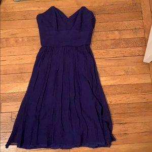 Shoshana strapless deep blue / purple dress